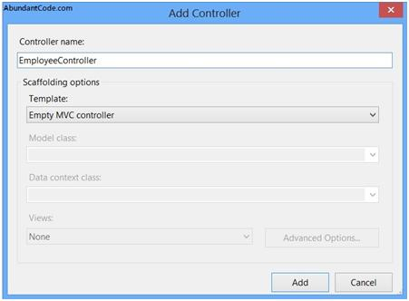 How to add a Controller in ASP.NET MVC Application ?