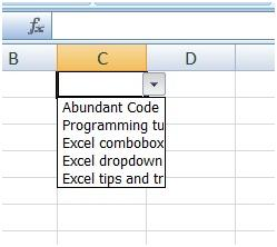 How to create drop down list in Microsoft Excel ?