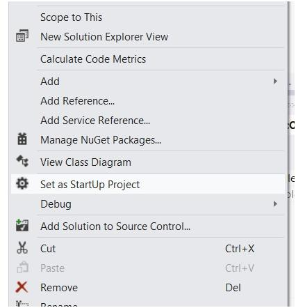How to Set Startup Projects in Visual Studio 2012 ?