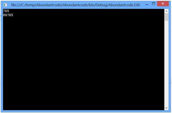 Decimal Numeric Formatting in C#