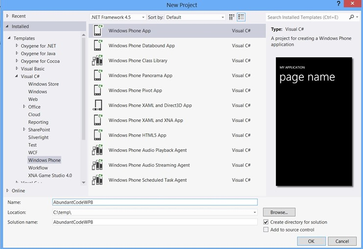 Creating a Simple XAML for Windows Phone 8 App