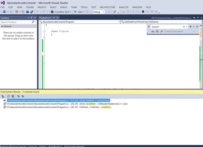 How to Use Navigate to Next result in Find Symbol Results Dialog in Visual Studio 2013?