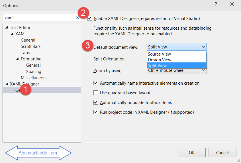 Xaml Designer Options In Visual Studio Abundant Code
