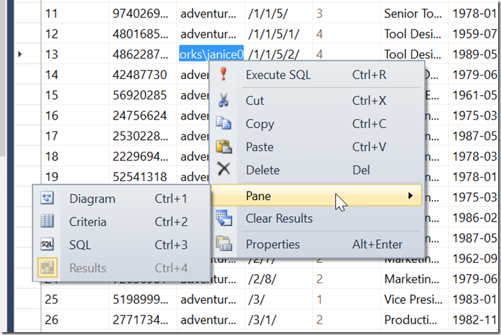 How to change the 'Edit Top 200 Rows' in SQL Management Studio ?